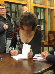 Signing at Jabberwocky Books, Newburyport, November 14, 2014