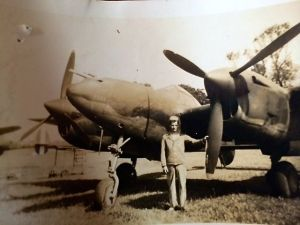 dad with airplane