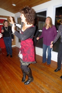 This is me at my book launch dance party -- highly recommended.