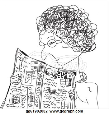 old-woman-reading-newspaper-cartoon_gg61902082
